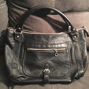 Relic purse, black leather
